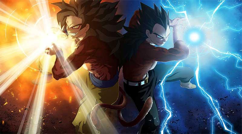 Goku y Vegeta Super Saiyan 4 Dragon Ball Heroes